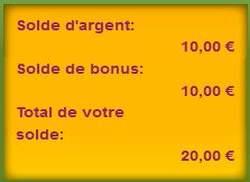 10 euros de bonus